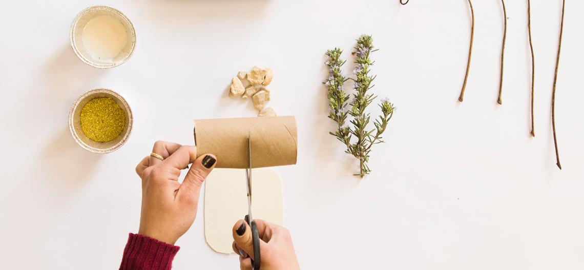 איך יוצרים אגרטל יפני מגליל נייר טואלט?