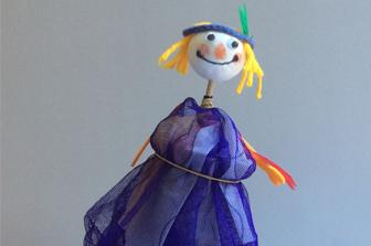 סדנת יצירה: בובה מציצה על מקל